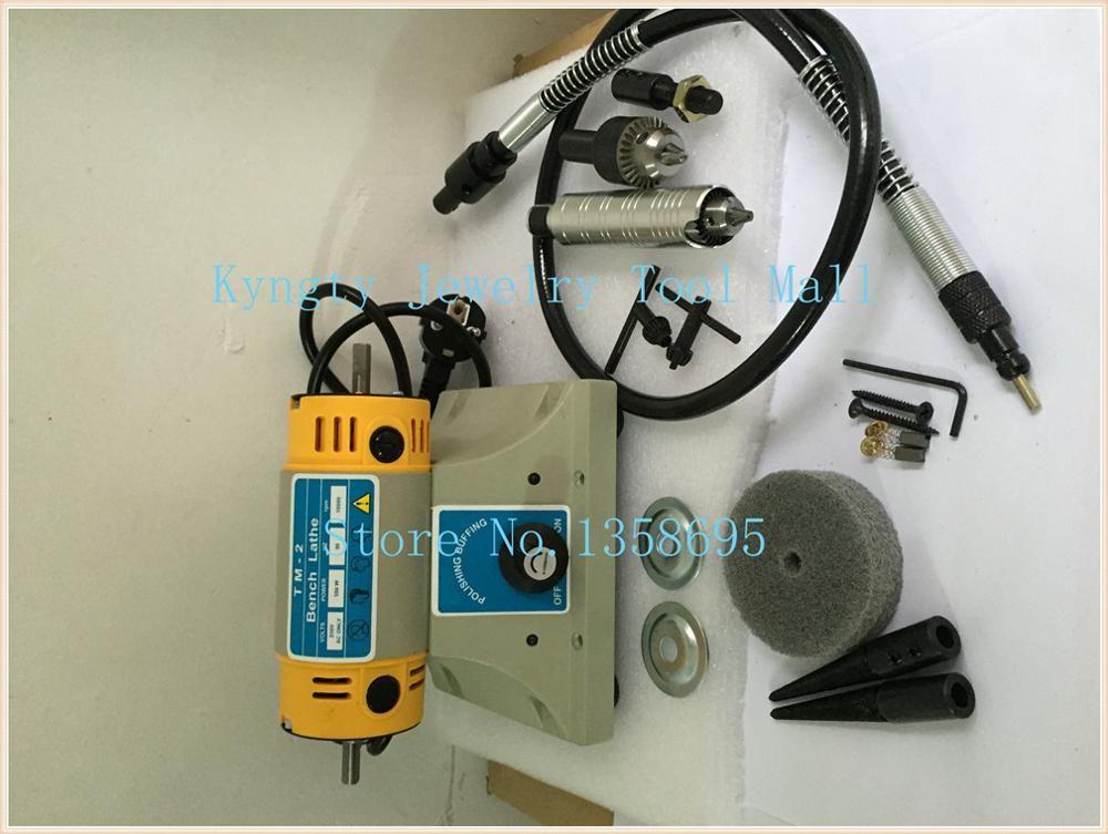 TM-2 Benchs Lathe Polisher Took Kit benchdrill multi use Jewelry Jade Polishing Machine