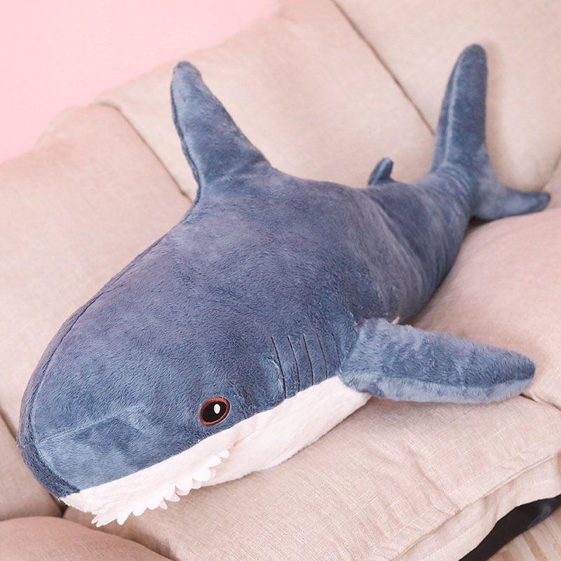 Nooer 80 cm 100 cm En Peluche Jouets En Peluche Jouet Requin Enfants Enfants Jouets Garçons Coussin Filles de Lecture Animale Oreiller pour cadeaux d'anniversaire