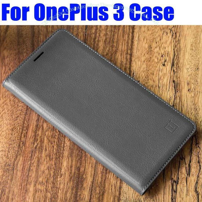 Pour Oneplus 3 3T étui meilleure qualité luxe PU cuir Flip couverture pour Oneplus 3 3T Smart réveil/sommeil + protecteur d'écran OP01