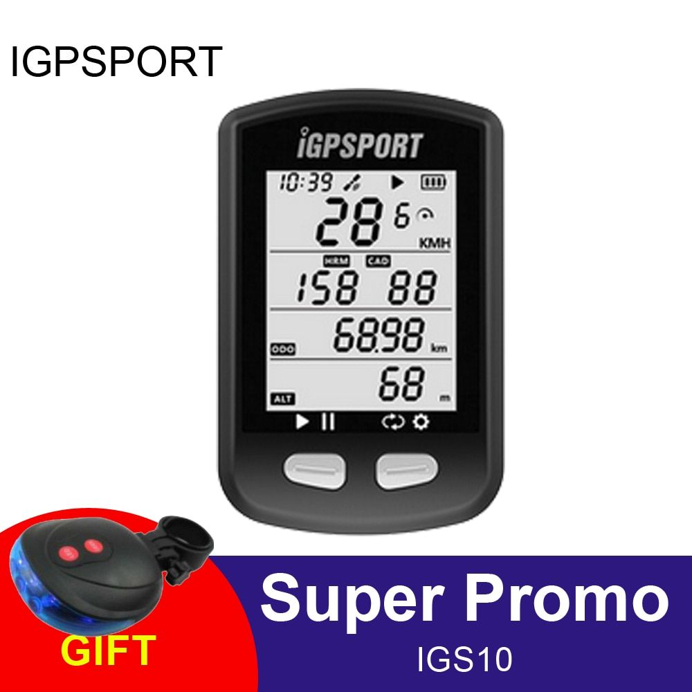 iGPSPORT IPX6 Bicycle GPS Computer Bike Auto Backlight Wireless ANT+Sensor Cycling Odometer For Riding Time Bicicleta IGS10