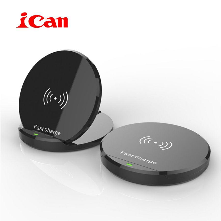 ICan Neue ankunft Drahtlose Ladegerät Für iPhone 8/8 Plus/X 10 Watt Qi Schnelle Drahtlose Aufladen Pad für Samsung S8/S8 +/S7Edge/S6Edge +/Note5