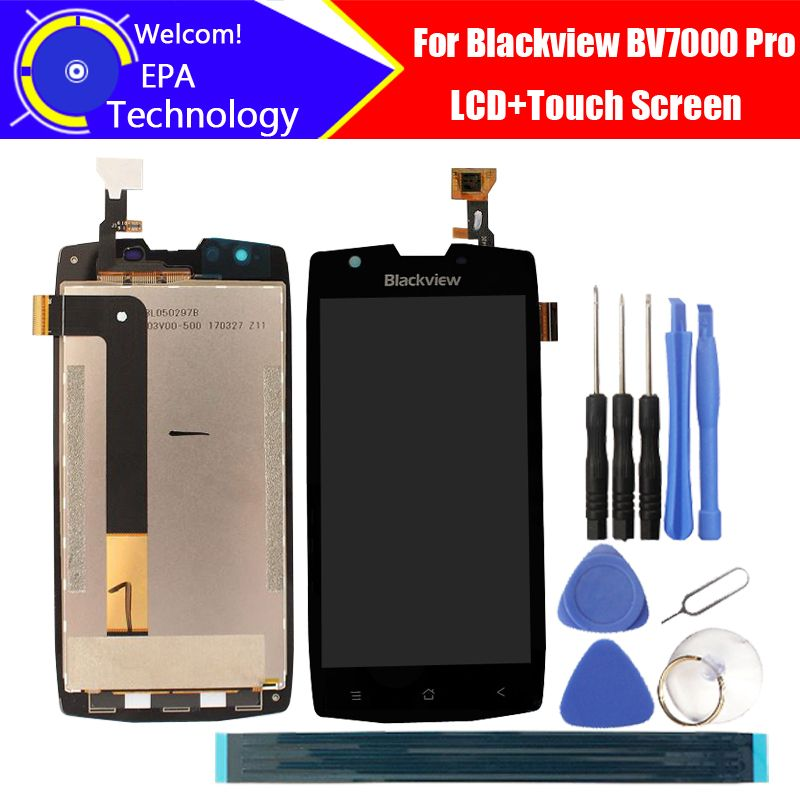 5.0'' <font><b>Blackview</b></font> BV7000 Pro LCD Display+Touch Screen 100% Original Tested Digitizer Glass Panel Replacement For BV7000 Pro+gifts