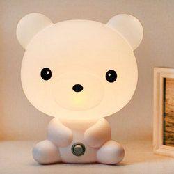 UE Plug Bébé Chambre Lampes Lumière de Nuit de Bande Dessinée Animaux Lapin Panda PVC En Plastique Sommeil Enfant Conduit Lampe Ampoule Veilleuse pour enfants