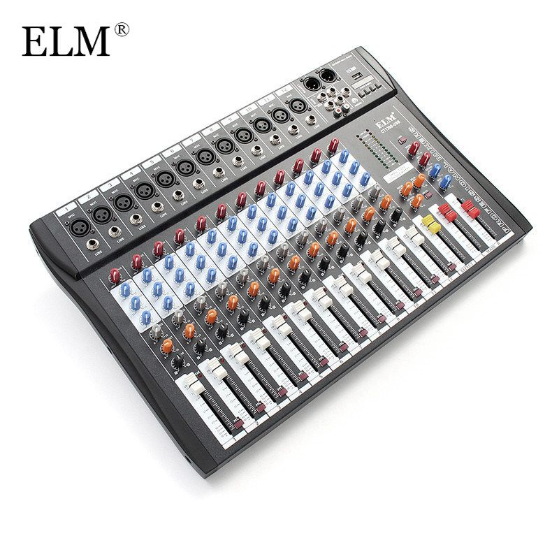 ULME Professionelle 12 Kanal Karaoke Audio Mixer Mikrofon Digital Sound Mischverstärker Konsole Mit USB 48 V Phantomspeisung