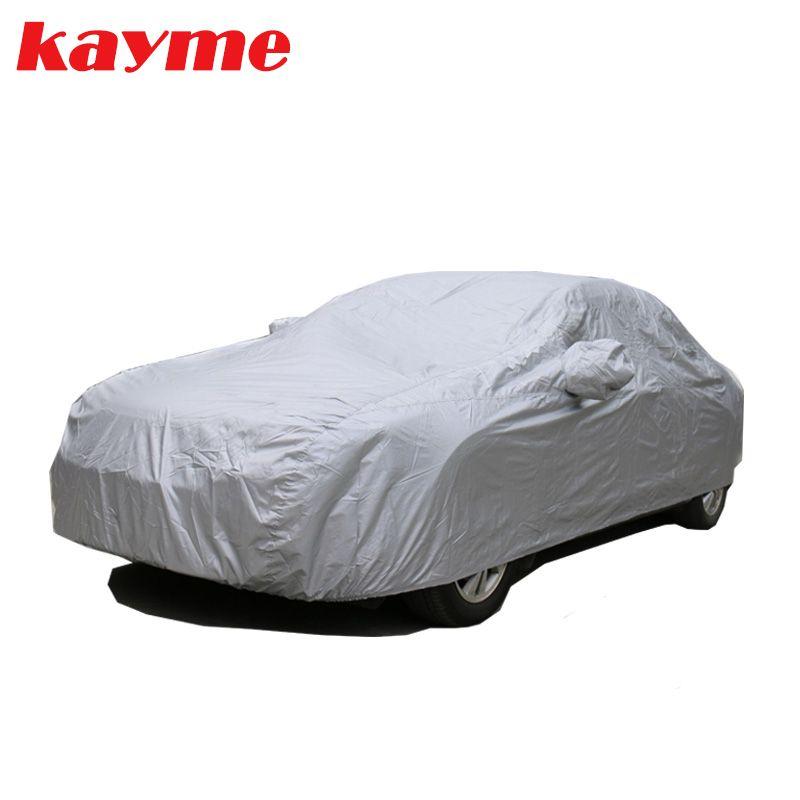 Kayme anti-poussière pleine bâches de voiture 170T polyester universel intérieur extérieur Suv UV résistant à la neige couverture de Protection pour toyota bmw vw