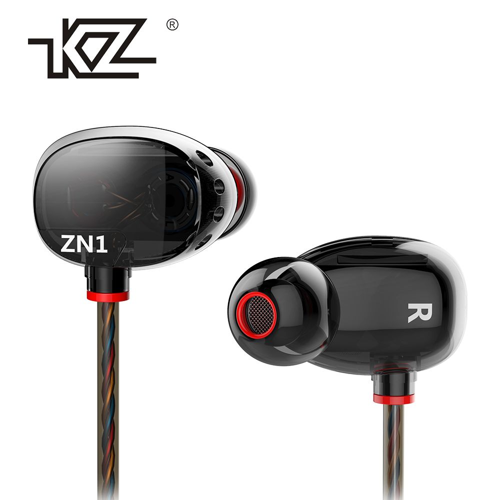 Earphone KZ ZN1 In Earphone Interactive With Microphone High-End <font><b>Mobile</b></font> Music Enthusiast Q Value Headset Ear fone de ouvido