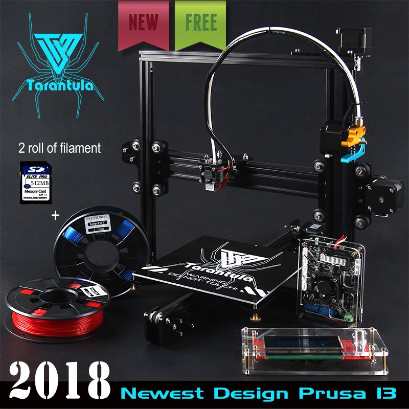 Cheap TEVO Tarantula I3 Aluminium Extrusion 3D Printer kit printer 3d printing 2 Rolls Filament 512MB SD card LCD As Gift