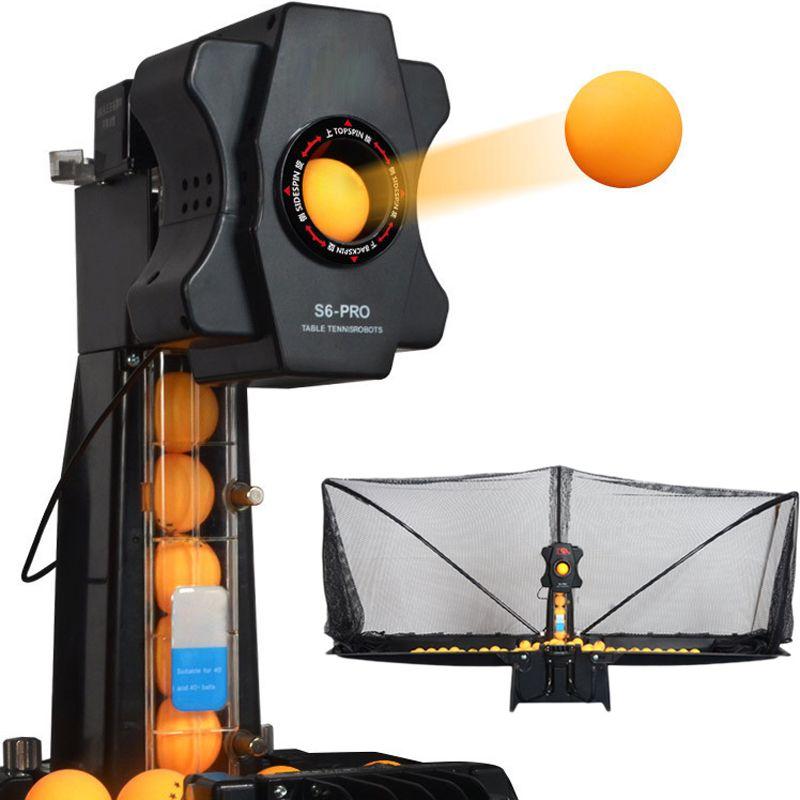 100 Pingpong Bälle Geschenke Intelligente Tischtennis Dienen Maschine Schläger Sport Bildschirm Net training Zubehör Ausrüstung S6-PRO