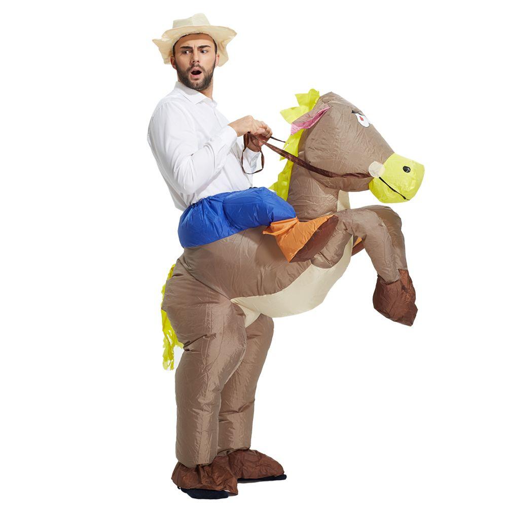 Best продать надувной костюм ковбоя ездить на лошади карнавальный костюм костюмы на Хэллоуин для взрослых детей