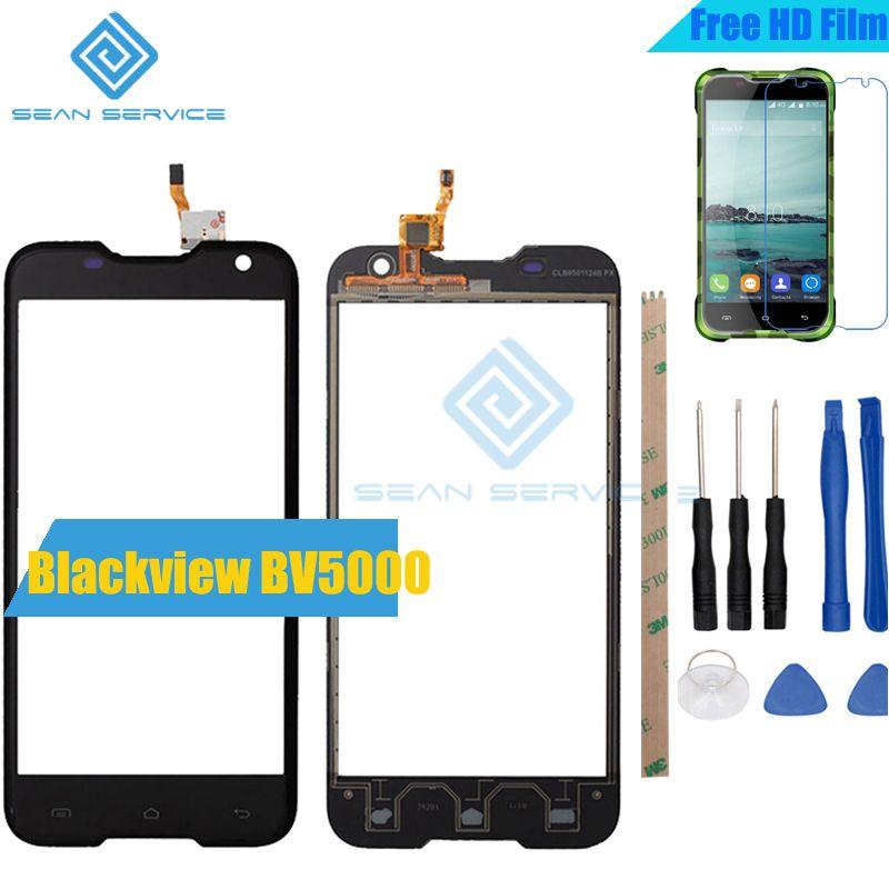 Pour Blackview BV5000 TP Tactile Panneau Parfait Pièces De Rechange + Outils 100% Écran Tactile D'origine 5.0 pouces Pour Blackview BV5000 verre