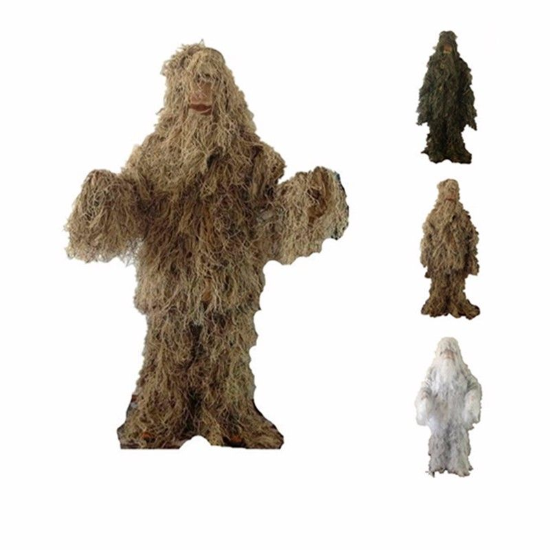 VILEAD 3 Colors Camouflage <font><b>Hunting</b></font> Ghillie Suit Secretive <font><b>Hunting</b></font> Clothes Sniper Suit Camouflage Clothing Army Airsoft Uniform
