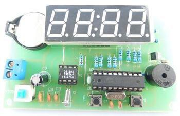 Free Shipping!  1pc 4-bit SCM AT89C2051 DS1302 digital clock DIY kit