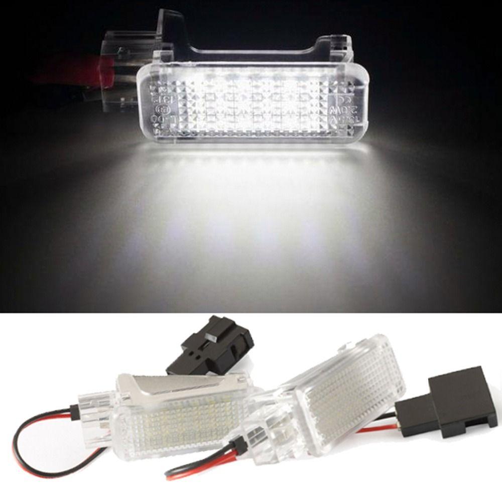 2 pièces LED Porte Bienvenue Éclairage Intérieur Lampe De Courtoisie Sous Porte Lumière De Tronc pour Audi A2 A3/S3 A4 A5 A6 A8 Q7 Q5 RS4 RS6 R8