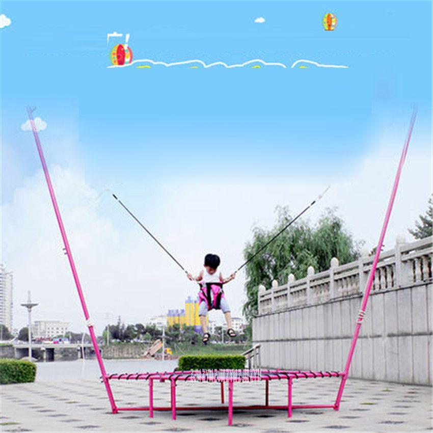 Trampoline Falten Taille Trommel Frühling Bounce Bett Bungee Springen Bett Hause Drinnen Erwachsene Kinder Gewicht Verlust Fitness Last 250 kg