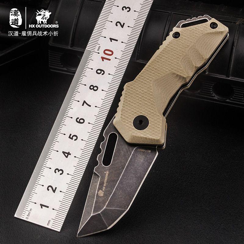 HX FREIEN Mercenaries Tactical Folding Tasche 8RC14MOV Klinge EDC Überleben Messer selbstverteidigung mit multi-funktion Tasche Messer