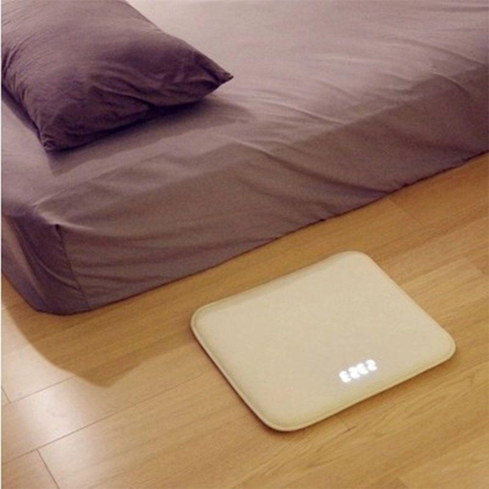 Smart Alarm Clock Carpet Electronic Digital Clock Touching Music Mat Clock White Collar Student Lazy Alarm Bell