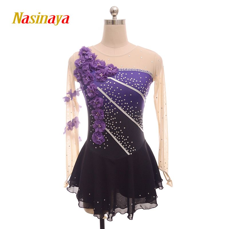 Nasinaya Figure Skating Dress Customized Competition Ice Skating Skirt for Girl Women Kids Patinaje Gymnastics Performance 109