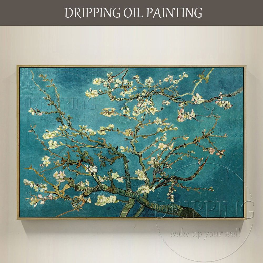 Reproduction Vincent Van Gogh Art Painting Blossom Almond Oil Painting Hand-painted Van Gogh Blossoming Almond Tree Oil Painting
