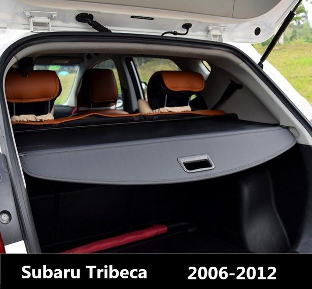 Rear Trunk Security Shield Cargo Cover For Subaru Tribeca 2006 07 2008 09 2010 2011 2012 High Qualit Black Beige Car Accessories
