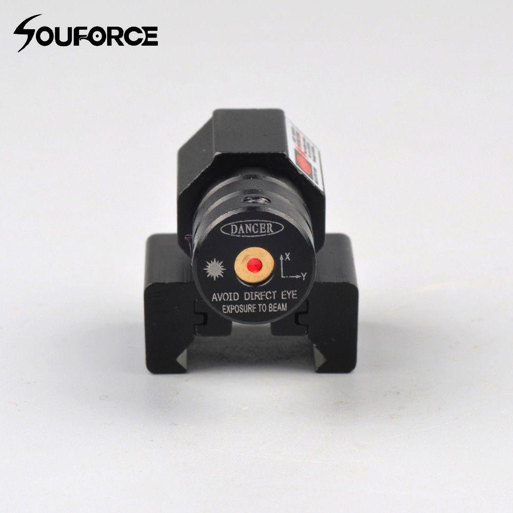 Petite visée Laser à point rouge avec portée de 50-100 mètres 635-655nm pour pistolet réglable 11mm 20mm portée de fusil de chasse Picatinny Rail