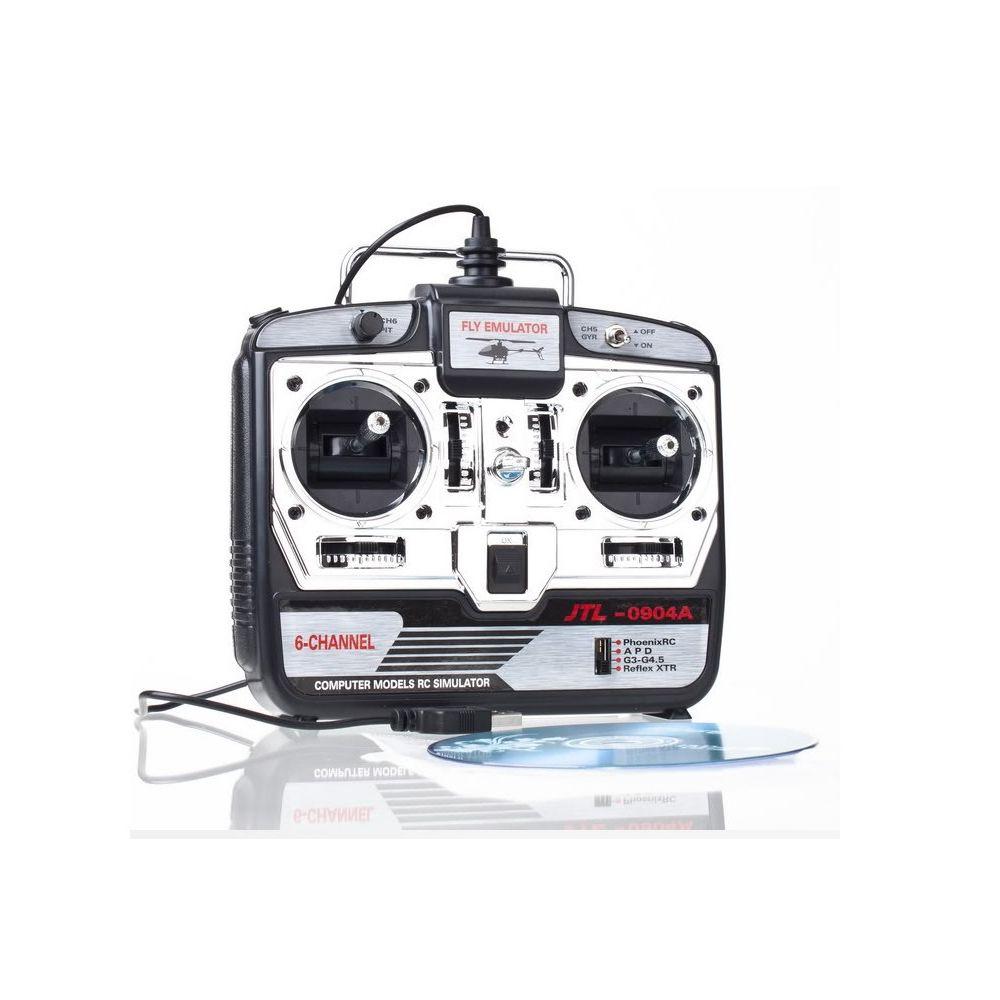 1pcs 6CH XTR RC Flight Simulator 6 CH JTL-0904A Airplane CD JTL0904A remote control simulator