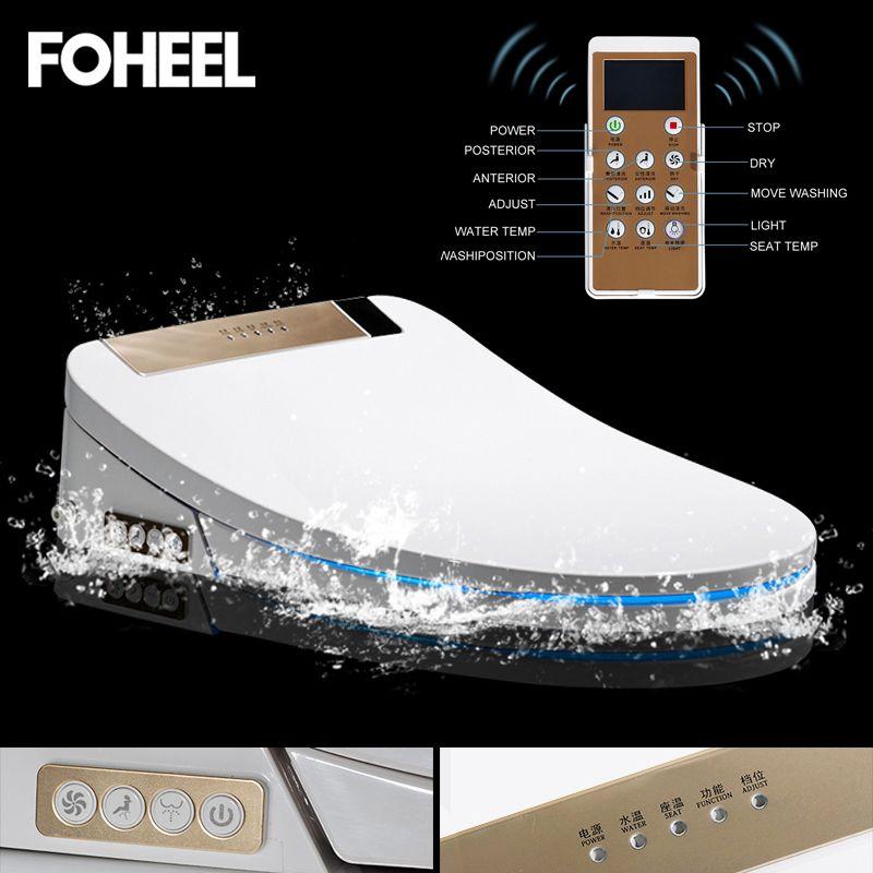 FOHEEL smart wc sitz abdeckung elektronische bidet abdeckung sauberen, trockenen sitz heizung wc intelligente led licht wc sitz abdeckung