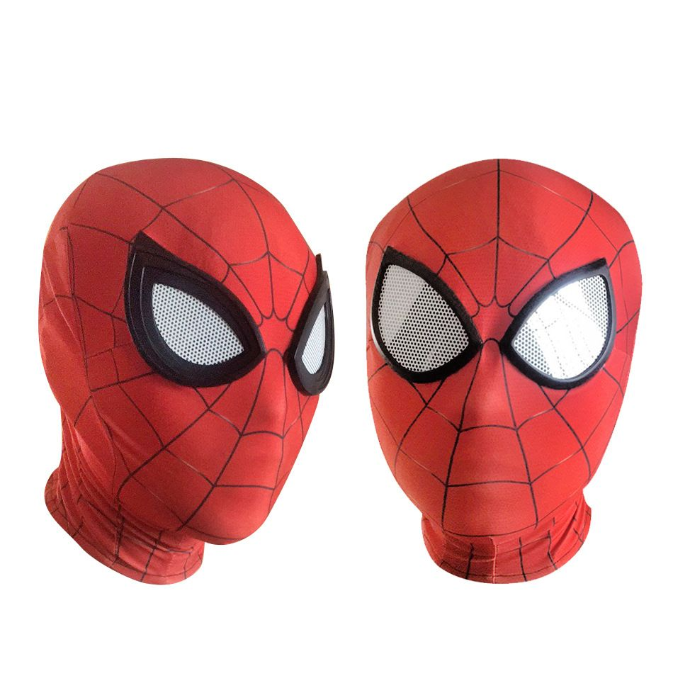 3D Spiderman Homecoming Masques Avengers Infinity Guerre Fer Spider Man costumes de cosplay Lycra Masque Super-Héros Lentilles