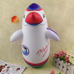 1 Pcs 70 Cm Inflatable Penguin Tumbler Penguin Tumbler Inflatable Mainan Anak-anak Air Inflatable Balon Tinju Kecepatan