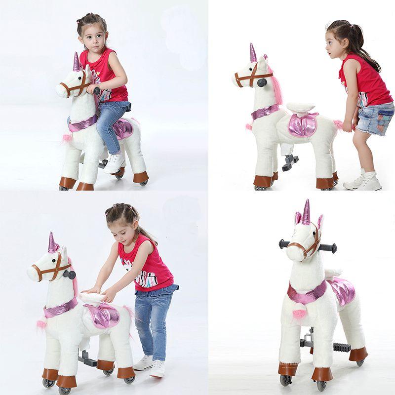 Action Pony Kleinen Fuß Mechanische Pferd Spielzeug Fahrt auf Bounce up und unten und Moving Pferd für Kinder 3- 7 jahre Jungen Mädchen