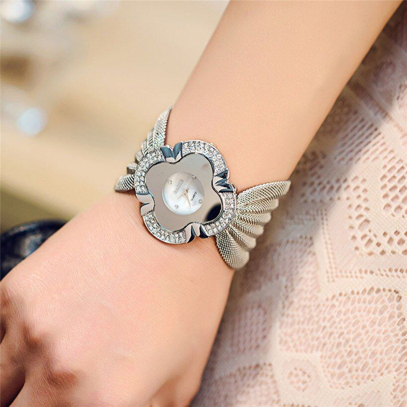 Women Watch Lady Diamond Bracelet Watch Mirror Luxury Fashion  Quartz Watch   relogio feminino dropshipping free shipping  #20