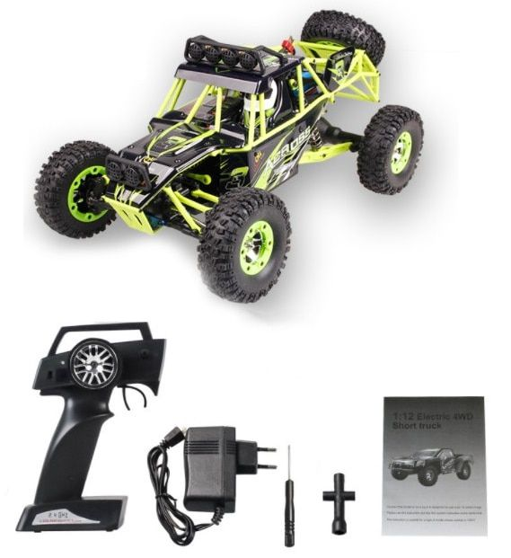 Wltoys 12428 RC Car 1/12 Scale 2.4G Electric 4WD Remote Control Car 50KM/H High speed RC Climbing Car Off-road vehicle VS A979-B