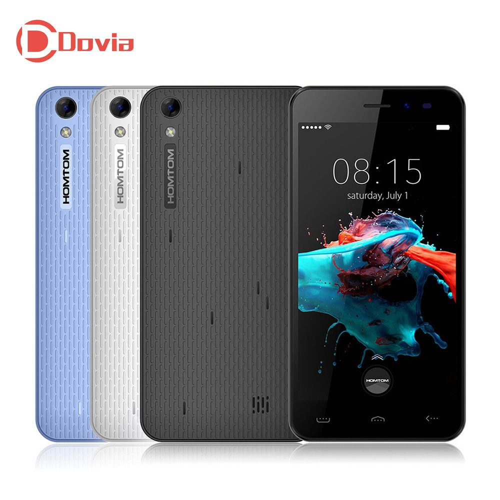 Hot Sale Homtom <font><b>HT16</b></font> Smartphone 5.0 MT6580 Quad Core Android 6.0 1GB RAM 8GB ROM 3000mAh 8MP Camera Dual SIM Mobile Phone