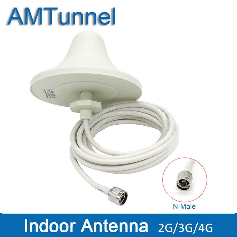 4G LTE Indoor Ceiling Antenna 2G 3G UMTS 4G antenna 5M cable N male connector for mobile signal booster repeater amplifier