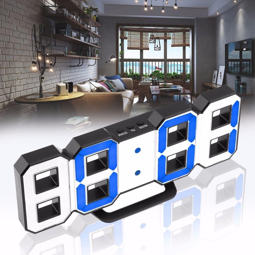Digital LED Alarm Clock Modern Wall Clock mechanism Alarm Snooze Desk Alarm Clock for Office Home Decoration Clock
