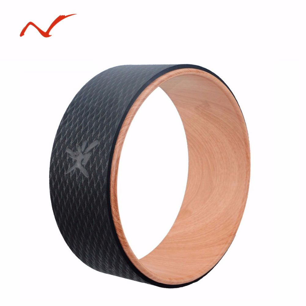Wood Grain 13 Inch Yoga Wheel Yoga Circles TPE Gym Workout Training Tool Waist Shape Bodybuilding Fitness Equipment High Quality