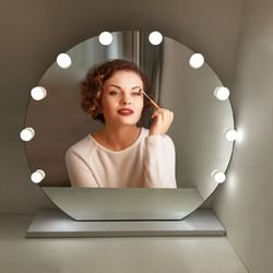 USB светодиодный тщеславие лампочки сенсорный выключатель затемнения Comestic светодиодный зеркало для макияжа с подсветкой гирлянда для туале...