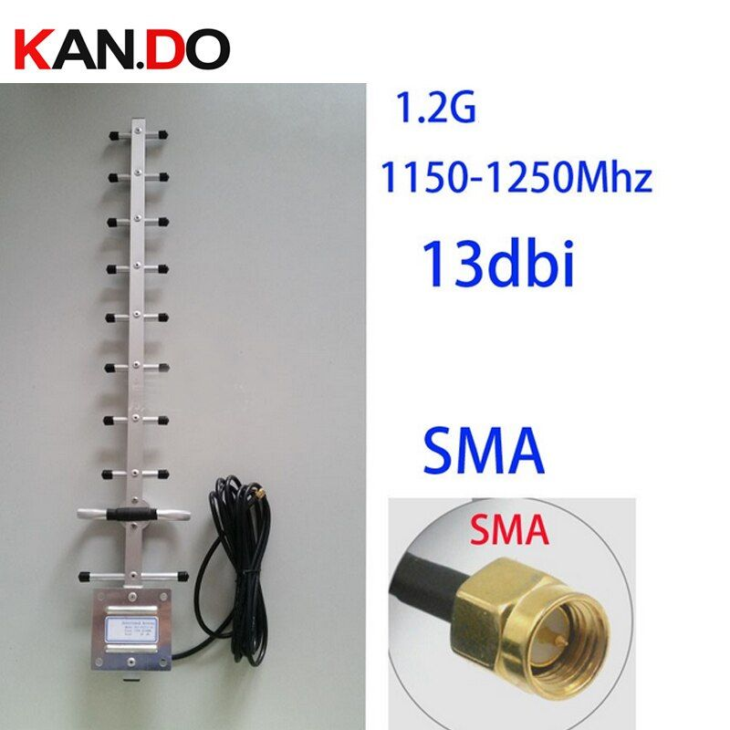 1200 мГц 13dbi усиления 1.2 г антенны Яги, 3 м кабель в комплекте, 1.2 г беспроводной приемопередатчик антенны CCTV аксессуары FPV-системы антенны