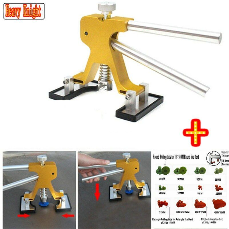 latest Adjustable PDR Tools Paintless Dent Repair Tools Dent Removal Dent Puller Tabs Dent Lifter PDR TOOLKIT