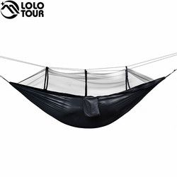 Ultralight Bug Tempat Tidur Gantung Hammock Tenda Nyamuk Outdoor Halaman Belakang Hiking Backpacking Perjalanan Camping Double Hamac Rede Hamaca Hangmat