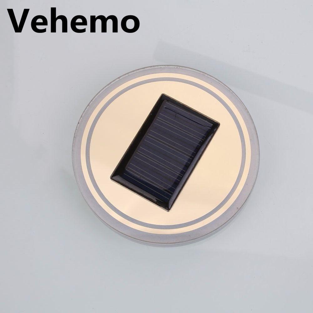 3 Colors Universal Car Anti-Slip Mat Waterproof Solar LED Light Cup Holder Mat Pad Bottle