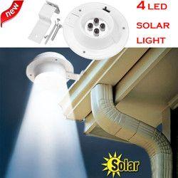 2018 Hot Sale Home Wall Light 4 LED Solar Powered Gutter Light Outdoor Home Garden Yard Wall Fence Pathway Lamp Night Light
