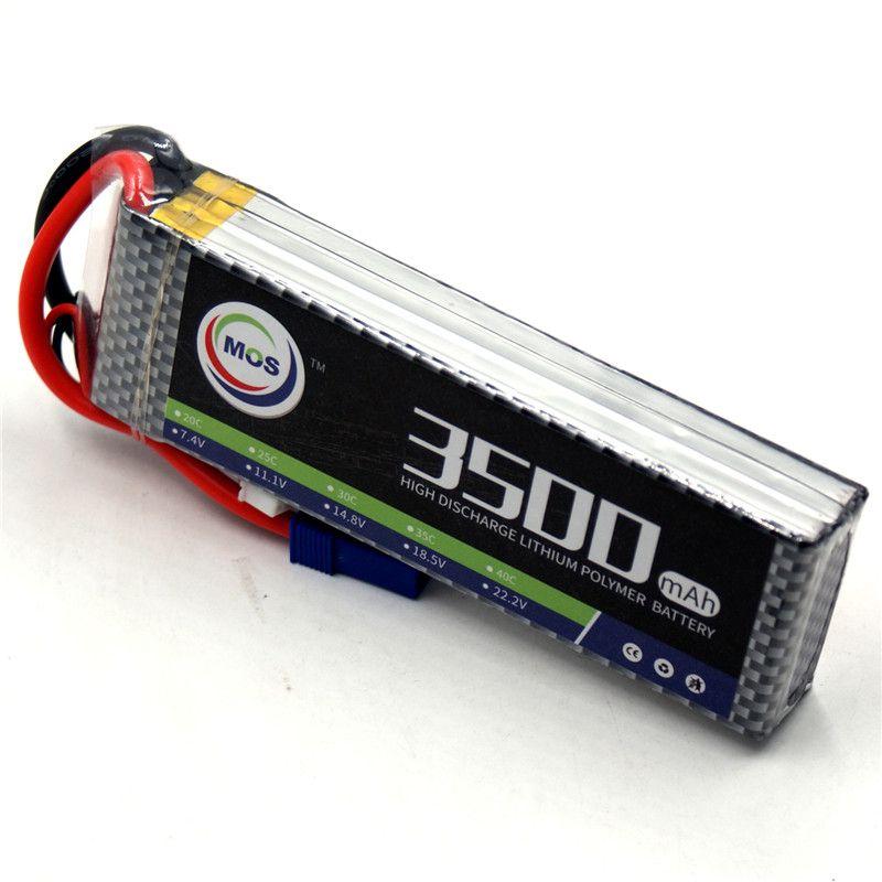 MOS RC Lipo battery 3S 11.1v 3500mAh 40C-80C For RC Airplane Drone Car Boat Li-ion Batteria AKKU