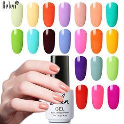 Belen 7 мл светлый цвет Макарон гель лак для ногтей долговечный Гибридный Полупостоянный УФ лак светодиодный светильник Лаки гель чернила гел...