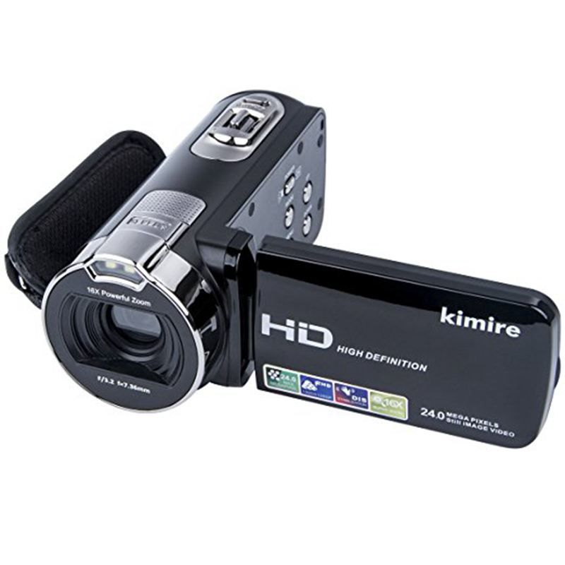 Digital Camera Camcorders Kimire HD Recorder 1080P 24 MP 16X Powerful Digital Zoom Video Camcorder 2.7 Inch LCD Stabilization Wi