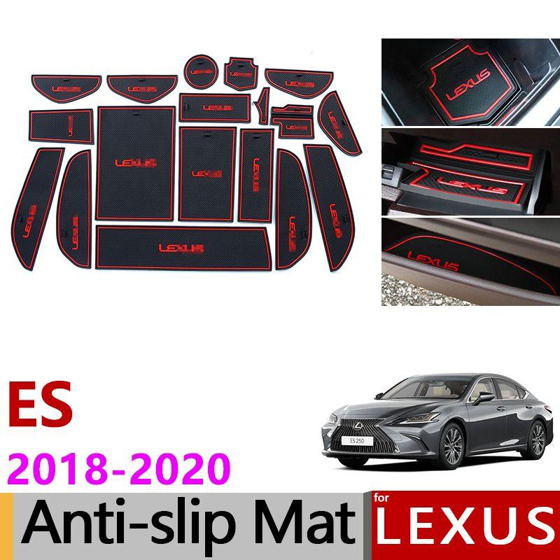 Anti-Slip Gummi Tor Slot Tasse Matte für Lexus es 2018 2019 2020 ES200 ES250 ES300h ES350 200 250 300 h 350 Zubehör Aufkleber
