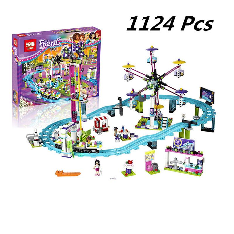 01008 Model building kits compatible with lego city girls friend Amusement Park 3D blocks Educational model building toys