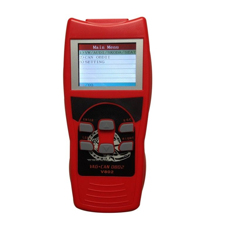 VAG UDS K+CAN Colorful LCD Display Professional Car Diagnostic Tool Read Scanner Auto Diagnose V802