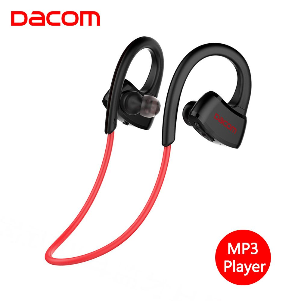 DACOM Sport Wireless Ear Headphones Stereo Bluetooth Earphone IPX7 Waterproof Headset with Mic for Samsung Galaxy Cellphone TV
