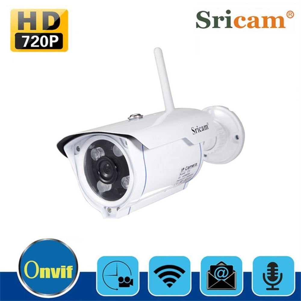 Sricam SP007 WiFi 720 p IP Kamera Wireless Unterstützung P2P Onvif Netzwerk Phone Remote View Wasserdichte Outdoor Pistole Typ Kamera EU UNS