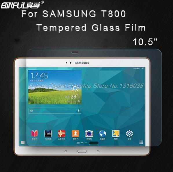 BINFUL Premium trempé verre De Protection Pour Samsung Galaxy Tab S 10.5 T800 T805 T807 tablet Anti-shatter Protecteur D'écran Film